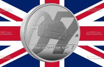 Англия монета 5 фунтов Джеймс Бонд