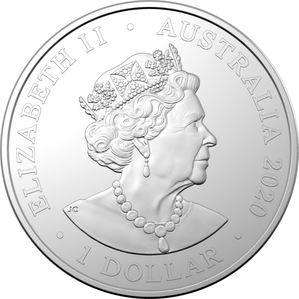 Австралия монета 1 доллар Созвездие семи сестер, аверс