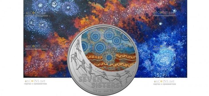 Австралия монета 1 доллар Созвездие семи сестер