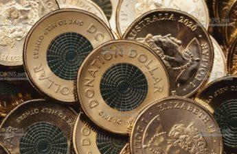 Австралия монета 2 доллара Доллар пожертвований