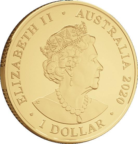 Австралия монета 2 доллара Доллар пожертвований, аверс