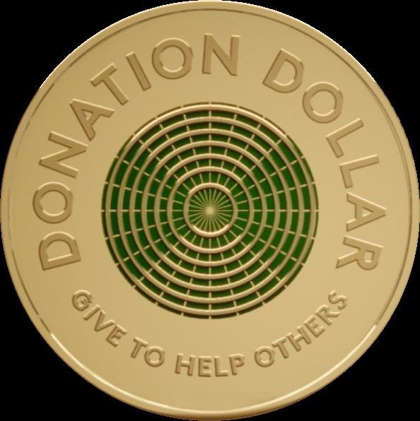 Австралия монета 2 доллара Доллар пожертвований, реверс