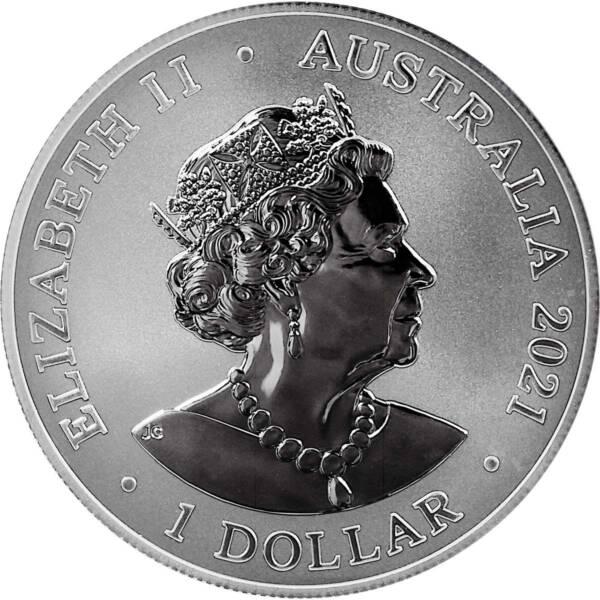 Австралия монетау 1 доллар Большая белая акула, аверс