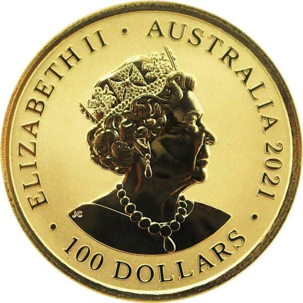 Австралия монетау 100 долларов Большая белая акула, аверс