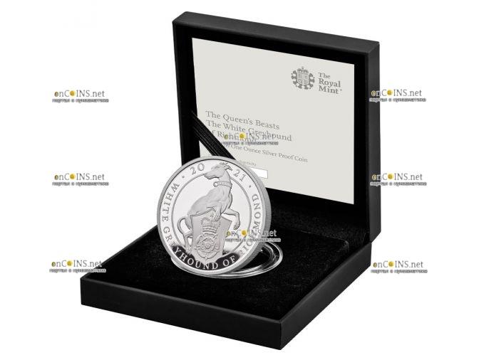 Британии монета 2 фунта Белая Борзая Ричмонда, подарочная упаковка