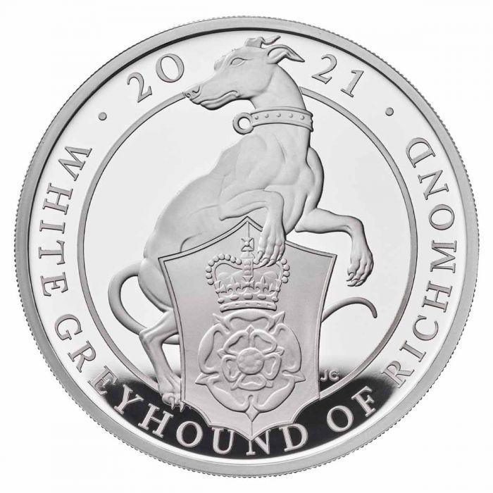 Британии монета 2 фунта Белая Борзая Ричмонда, реверс