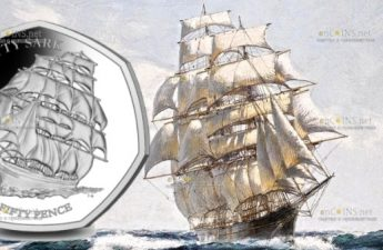 Британские территории в Индийском океане монета 50 пенсов Катти Сарк