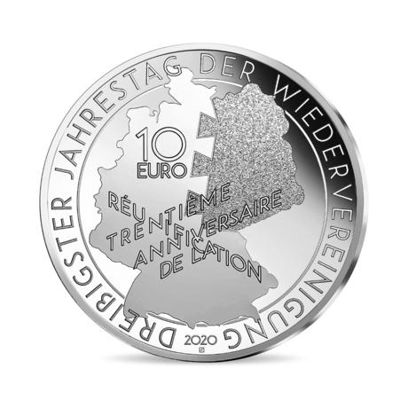 Франция монета 10 евро Миттеран - Коль, аверс