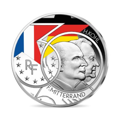 Франция монета 10 евро Миттеран - Коль, реверс