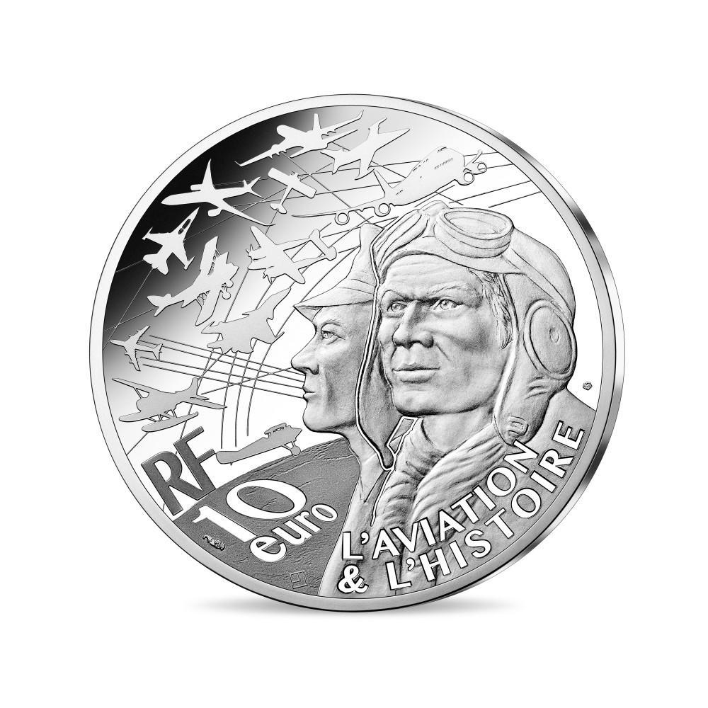 Франция монета 10 евро Спитфайр, аверс