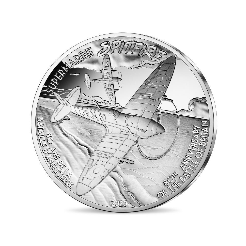 Франция монета 10 евро Спитфайр, реверс