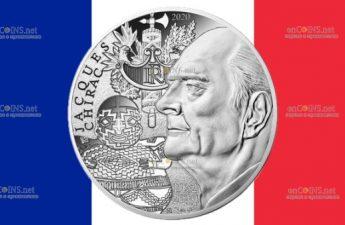 Франция монета 10 евро Жак Ширак