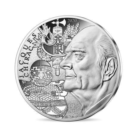 Франция монета 10 евро Жак Ширак, реверс