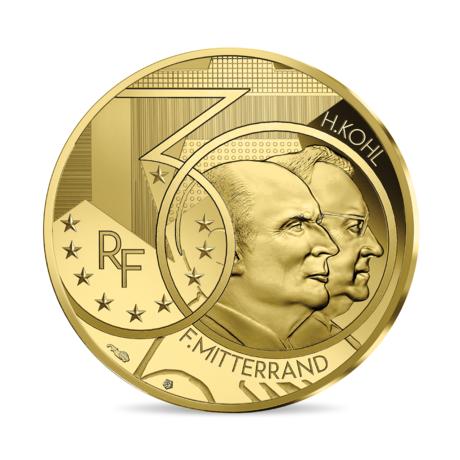 Франция монета 50 евро Миттеран - Коль, реверс
