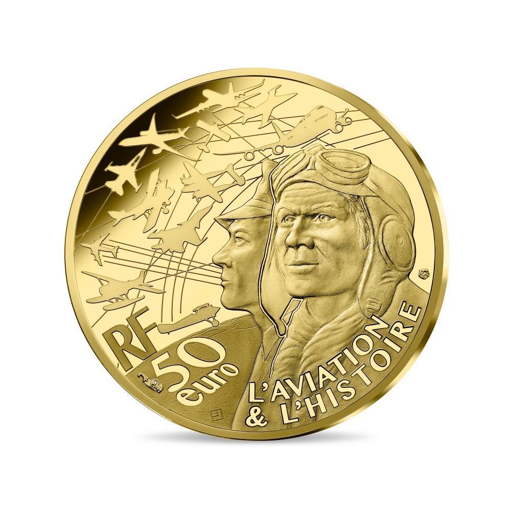 Франция монета 50 евро Спитфайр, аверс