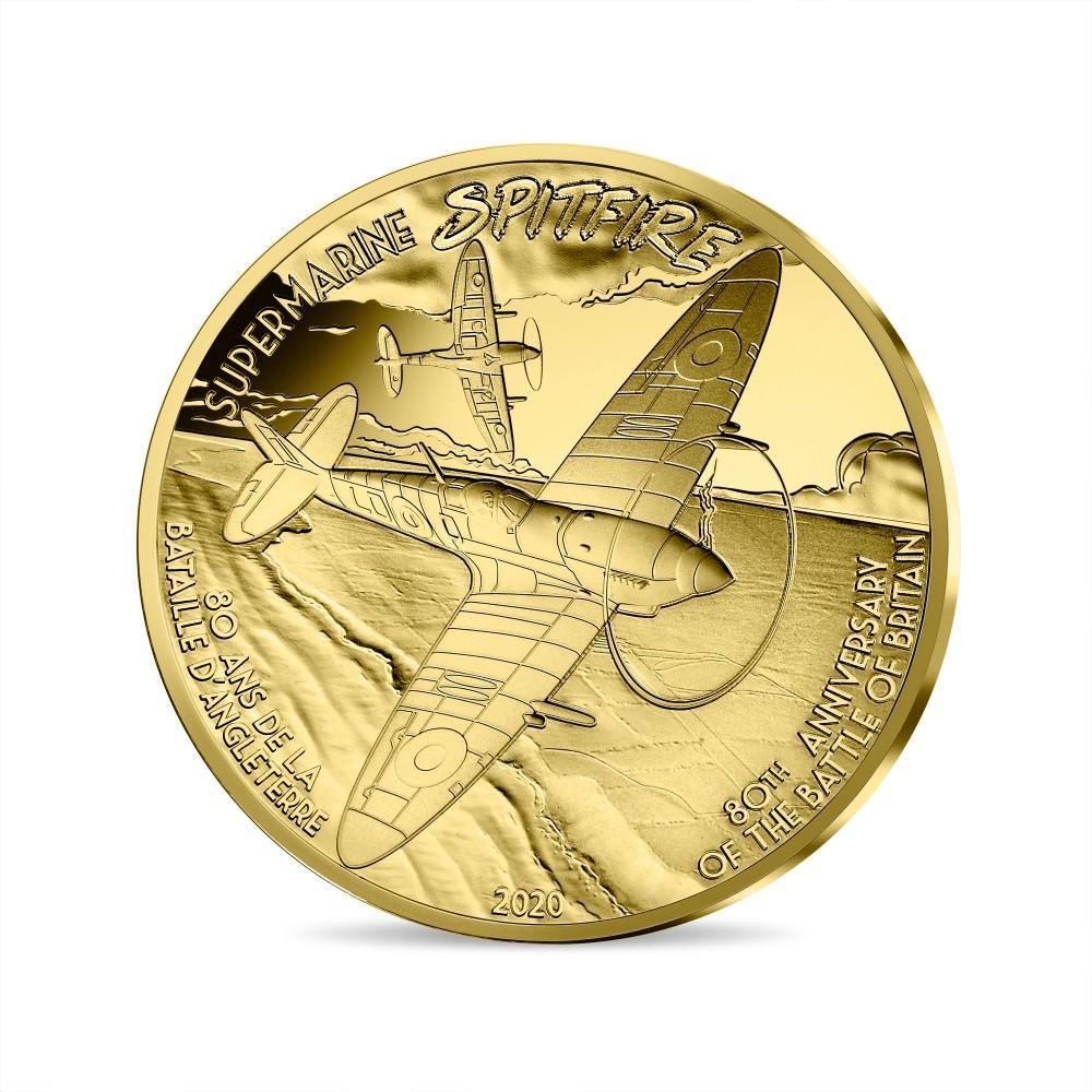 Франция монета 50 евро Спитфайр, реверс