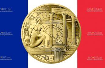 Франция монетау 50 евро Олимпия