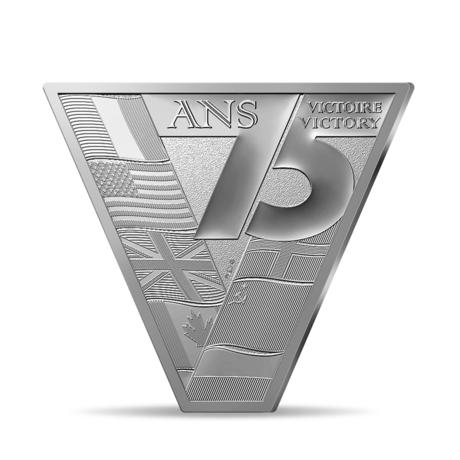 Франция выпускает в обращение монету 10 евро Победа Мира, аверс