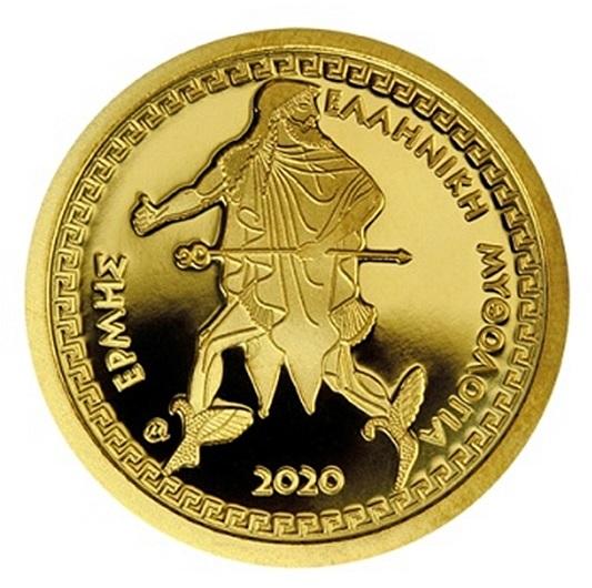 Греция монета 100 евро Гермес, реверс