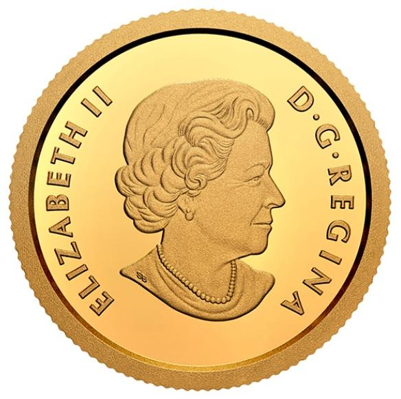 Канада монета 10 долларов Инук и Куллик, аверс