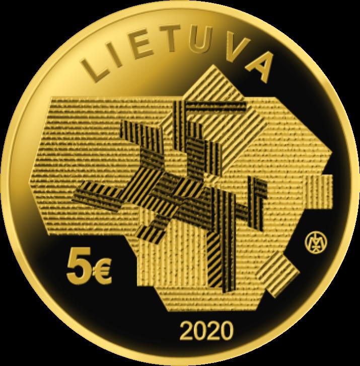 Литва монета 5 евро - Сельское хозяйство, аверс