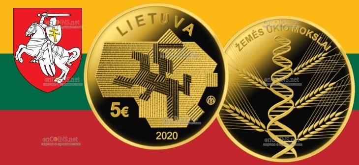 Литва монета 5 евро - Сельское хозяйство