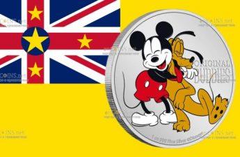 Ниуэ монета 2 доллара Плуто