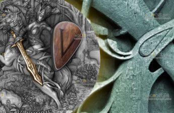 Ниуэ монета 5 долларов Валькирия