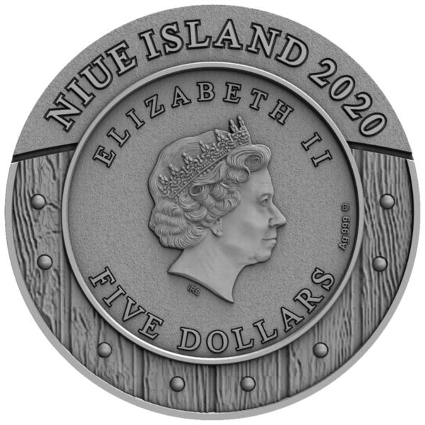 Ниуэ монета 5 долларов Валькирия, аверс