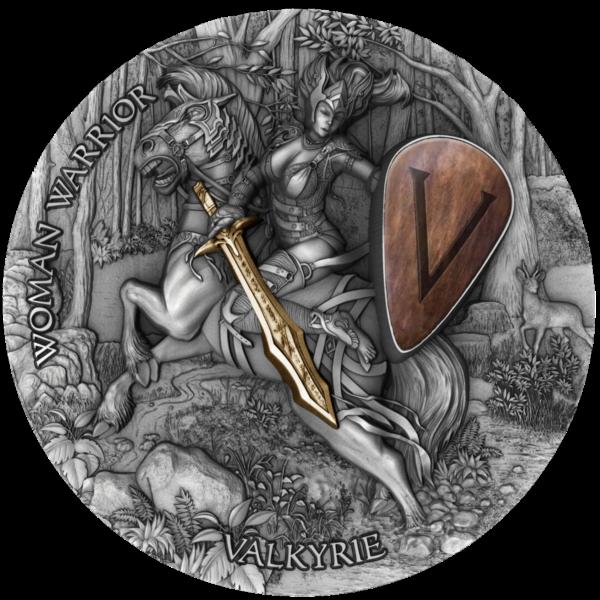 Ниуэ монета 5 долларов Валькирия, реверс