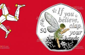 Остров Мэн монета 50 пенсов Если веришь, хлопни в ладоши