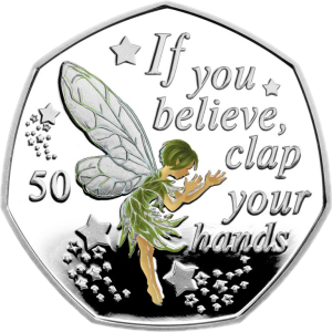 Остров Мэн монета 50 пенсов Если веришь, хлопни в ладоши, реверс