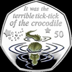 Остров Мэн монета 50 пенсов Крокодил Тик-Так, реверс