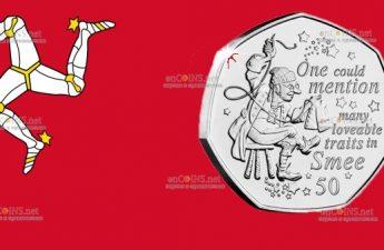 Остров Мэн монета 50 пенсов Смии