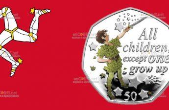Остров Мэн монета 50 пенсов Все дети, кроме одного
