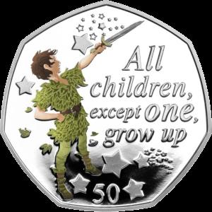 Остров Мэн монета 50 пенсов Все дети, кроме одного, реверс