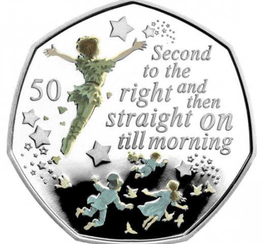 Остров Мэн монета 50 пенсов Вторая справа, реверс