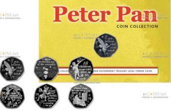 Остров Мэн выпускает серию монет Питер Пэн