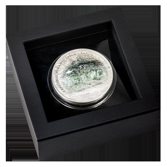 Острова Кука монета 25 долларов - Пирамида Карстенса - подарочная упаковка