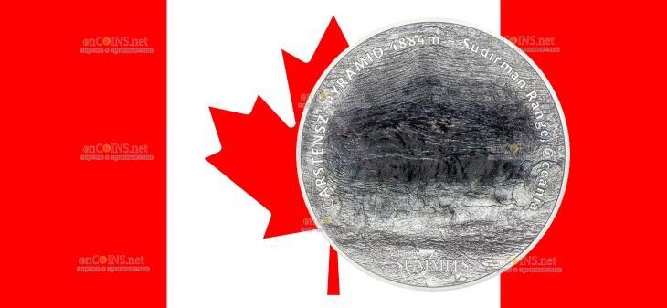 Острова Кука монета 25 долларов - Пирамида Карстенса