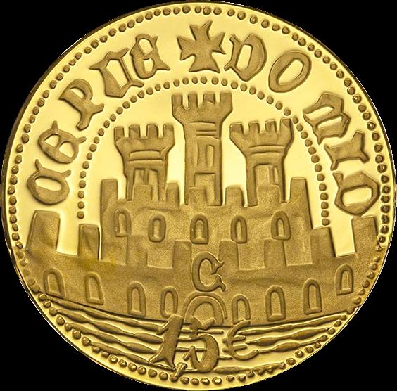 Португалии монета 1.5 евро Пол эскудо Сеуты, аверс