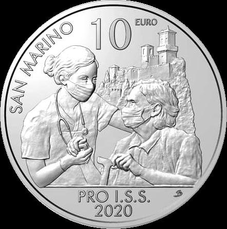 Сан-Марино монета 10 евро Pro ISS, реверс