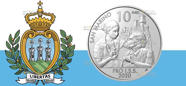Сан-Марино монета 10 евро Pro ISS