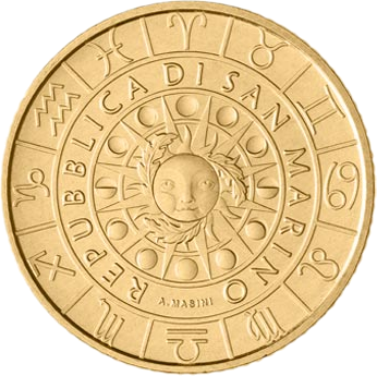 Сан-Марино монета 5 евро, серия Зодиак, аверс