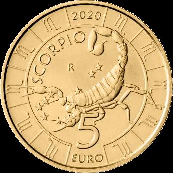 Сан-Марино монета 5 евро, Скорион, реверс