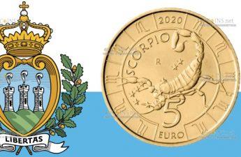 Сан-Марино монета 5 евро, Скорпион