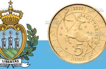Сан-Марино монета 5 евро, Стрелец