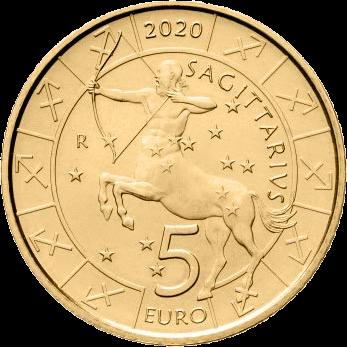 Сан-Марино монета 5 евро, Стрелец, реверс