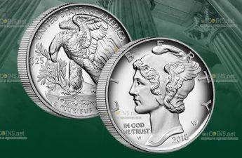 США монета 25 долларов, палладий, 2020 год выпуска