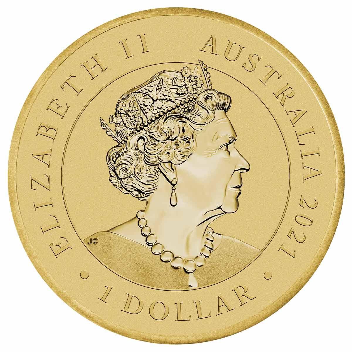 Австралия монета 1 доллар Рождественская монета, аверс